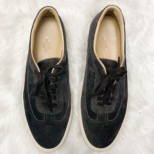 Hermès brown suede sneakers